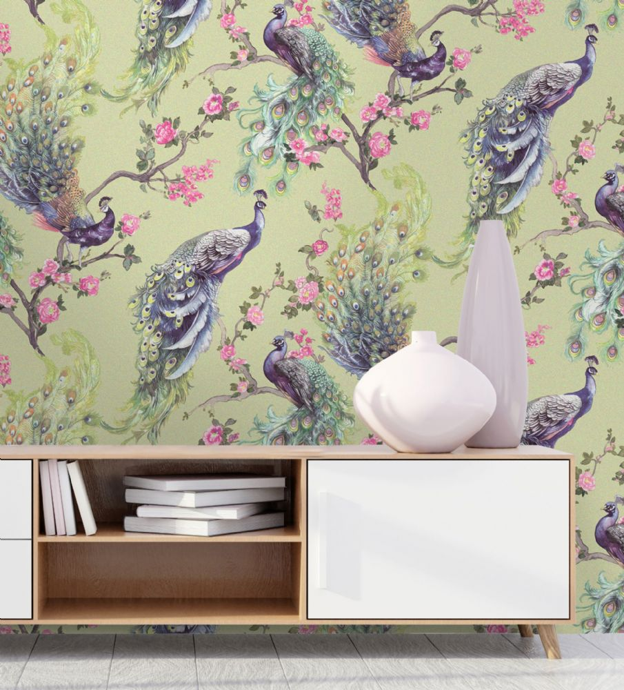 Holden Decor Menali Peacock Green 35921 Wallpaper
